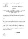 Quyết định số 2976/QĐ-UBND tỉnh Thừa Thiên Huế