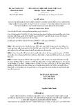 Quyết định số 4772/QĐ-UBND tỉnh Bình Định