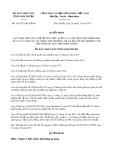 Quyết định số 142/2017/QĐ-UBND