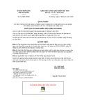 Quyết định số 112/QĐ-UBND tỉnh An Giang