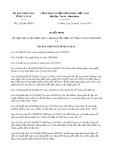 Quyết định số 2152/QĐ-UBND tỉnh Cà Mau