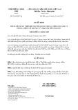 Quyết định số 2140/QĐ-TTg năm 2017