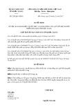Quyết định số 2282/QĐ-UBND tỉnh Bắc Giang