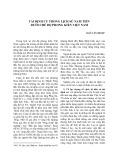 Tái định cư trong lịch sử Nam Tiến dưới chế độ phong kiến Việt Nam