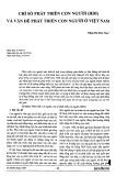 Chỉ số phát triển con người (HDI) và vấn đề phát triển con người ở Việt Nam