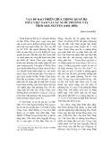 Vấn đề đạo thiên chúa trong quan hệ giữa Việt Nam và các nước phương Tây thời nhà Nguyễn (1802 -1858)