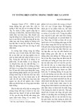 Tư tưởng biện chứng trong triết học I.Cantơ