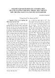 Giải mã cội nguồn bản sắc văn hóa việt qua tín ngưỡng thờ Mẫu trong tiểu thuyết mẫu thượng ngàn của Nguyễn Xuân Khánh