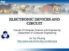 Bài giảng Electronic devices and circuit: Chapter 1 - Võ Tấn Phương