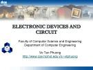 Bài giảng Electronic devices and circuit: Chapter 4 - Võ Tấn Phương