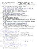 Đề kiểm tra 1 tiết môn Tin học lớp 10 năm 2011-2012 - Trường THPT Chu Văn An