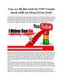 Làm sao để đưa kênh lên Top youtube nhanh nhất mà không ban kênh