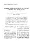 """Chính sách """"gác tranh chấp cùng khai thác"""" của Trung Quốc ở biển Đông và giải pháp cho Việt Nam"""