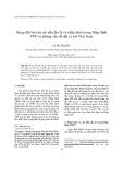 Xung đột bảo hộ chỉ dẫn địa lý và nhãn hiệu trong Hiệp định TPP và những vấn đề đặt ra với Việt Nam