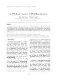An OCL-Based Framework for Model Transformations