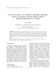 Policy on Prisoners, Sex Offenders with Mental Disorders: Practice of Germany and Some Other Countries and Recommendations for Vietnam