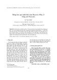 Động học quá trình khử màu Reactive Blue 21 bằng axít Peracetic
