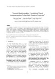 Towards Model-checking Probabilistic Timed Automata against Probabilistic Duration Properties