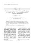 Việt Nam và phương án sử dụng Tòa trọng tài theo phụ lục VII Công ước luật biển 1982 trước những yêu sách của Trung Quốc tại biển Đông
