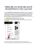 Hướng dẫn cách chuyển tiếp email từ Hotmail/Outlook & Yahoo sang Gmail