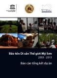 Báo cáo tổng kết dự án: Bảo tồn di sản thế giới Mỹ Sơn