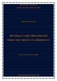Luận văn thạc sĩ Văn học: Đối thoại và độc thoại nội tâm trong tiểu thuyết của Hemingway