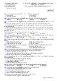 Đề thi KS kiến thức THPT năm 2017-2018 môn Lịch sử lớp 12 - Sở GD&ĐT Vĩnh Phúc - Mã đề 411