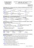 Đề thi KS kiến thức THPT năm 2017-2018 môn tiếng Anh lớp 12 - Sở GD&ĐT Vĩnh Phúc - Mã đề 810
