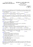Đề thi KSCL lần 1 môn Vật lí lớp 10 năm 2017-2018 - THPT Nguyễn Viết Xuân - Mã đề 103