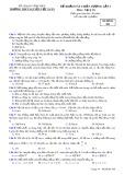 Đề thi KSCL lần 1 môn Vật lí lớp 10 năm 2017-2018 - THPT Nguyễn Viết Xuân - Mã đề 308