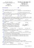 Đề thi KSCL lần 3 môn Vật lí lớp 10 năm 2017-2018 - THPT Nguyễn Viết Xuân - Mã đề 101