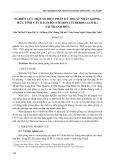 Nghiên cứu một số biện pháp kỹ thuật nhân giống hữu tính cây bách bộ (Stemona tuberosa lour.) tại Thanh hóa