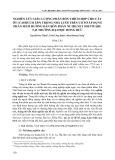 Nghiên cứu liều lượng phân bón thích hợp cho cây ớt (Capsicum ssp) trong nhà lưới trên cơ sở áp dụng phần mềm hướng dẫn bón phân Nutri.net Software tại trường Đại học Hồng Đức