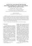 A syntactic analysis of the English discourse marker only and its Vietnamese translational equivalents