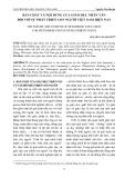 Bản chất và nội dung của giáo dục nhân văn đối với sự phát triển con người Việt Nam hiện nay