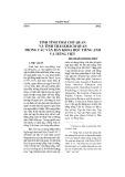 Tính tình thái chủ quan và tình thái khách quan trong các văn bản khoa học tiếng Anh và tiếng Việt