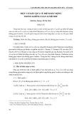 Một vài kết quả về điểm bất động trong không gian B-mêtric