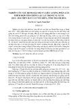 Nghiên cứu xác định mật độ và liều lượng phân lân thích hợp cho giống lạc l27 trong vụ xuân 2014 - 2016 trên đất cát ven biển, tỉnh Thanh Hóa