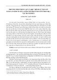 Phương pháp phân lập và đọc trình tự gen ITS loài lan kim tuyến (Anoectochilus setaceus blume.) tại Thanh Hóa