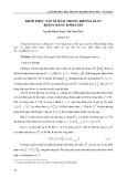 Khôi phục xấp xỉ hàm trong không gian Besov bằng B Splines