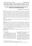 Biến động kinh tế vĩ mô và rủi ro tín dụng của ngân hàng nông nghiệp và phát triển nông thôn Việt Nam