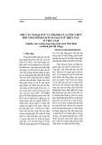 Nhu cầu ngoại ngữ và thái độ của công chức đối với chính sách ngoại ngữ hiện nay ở Việt Nam