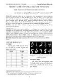 Một số vấn đề trong nhận diện chữ số viết tay