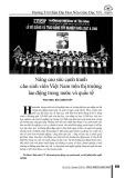 Nâng cao sức cạnh tranh cho sinh viên Việt Nam trên thị trường lao động trong nước và quốc tế