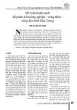 Đề xuất chính sách để phát triển nông nghiệp - nông thôn - nông dân tỉnh Hậu Giang
