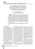 Cơ chế điều hành lãi suất của Ngân hàng Nhà nước Việt Nam và đề xuất các chính sách