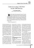 Quản lý nợ công ở Việt Nam từ năm 2006 đến nay
