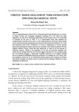 Corpus - based analysis of term extraction for English medical texts