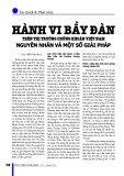 Hành vi bầy đàn trên thị trường chứng khoán Việt Nam nguyên nhân và một số giải pháp