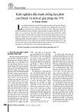 Kinh nghiệm đấu tranh chống lạm phát của Brazil và một số giải pháp cho VN